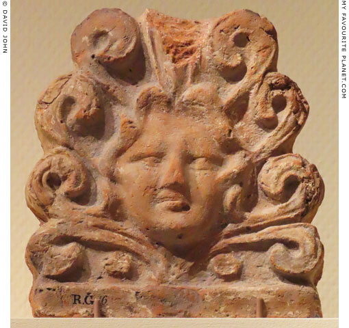 Etruscan terracotta Gorgoneion in Leiden at My Favourite Planet