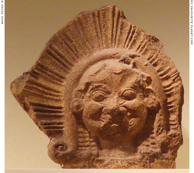 Etruscan Gorgoneion antefix in Leiden at My Favourite Planet
