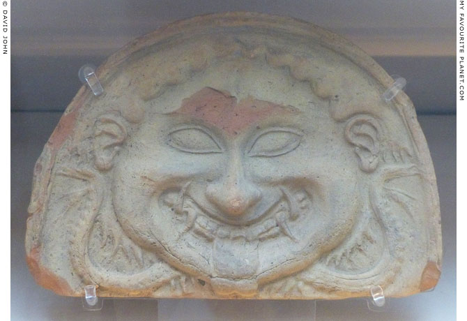Terracotta Gorgoneion antefix from Rubi at My Favourite Planet