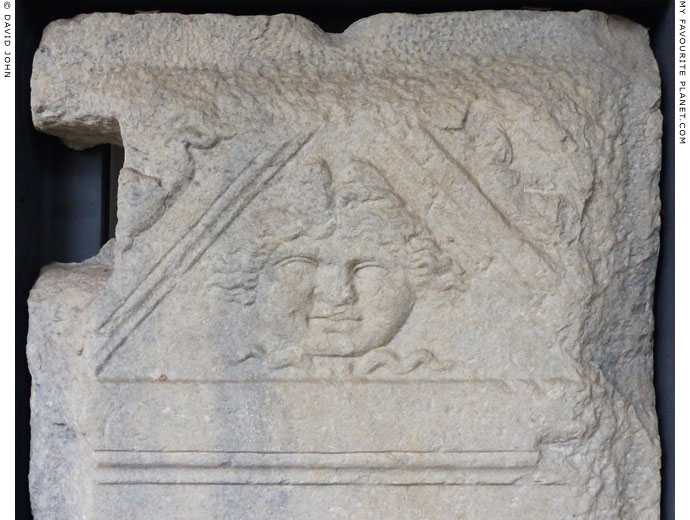 A Gorgoneion on the funerary stele of shoemaker from Mediolanum at My Favourite Planet