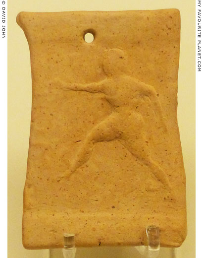 Perseus flying on a  terracotta plaque from the Agamemnoneion, Mycenae at My Favourite Planet