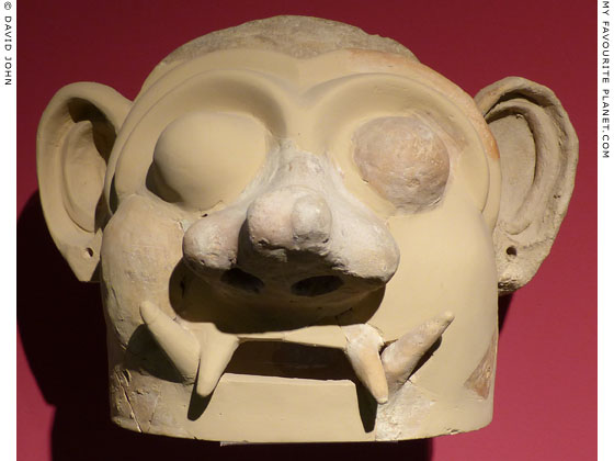 A terracotta ceremonial mask from Tiryns at My Favourite Planet