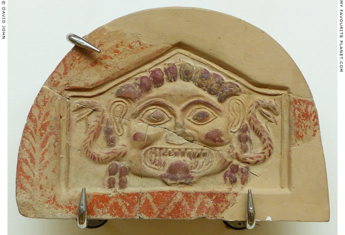 A terracotta Gorgoneion antefix from Olympia at My Favourite Planet