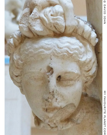 The head of Medusa from the Ostia statue at My Favourite Planet