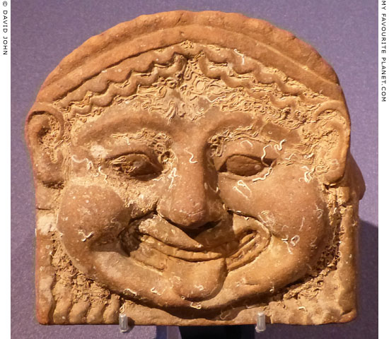 Terracotta Gorgoneion antefix from Gela, Sicily at My Favourite Planet