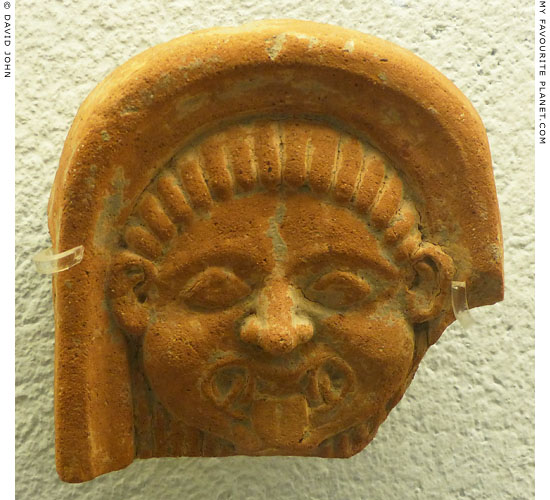 The second Gorgoneion antefix in the Paestum museum at My Favourite Planet