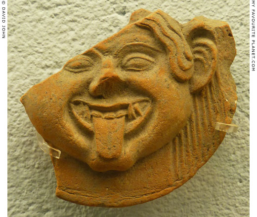 The third Gorgoneion antefix in the Paestum museum at My Favourite Planet