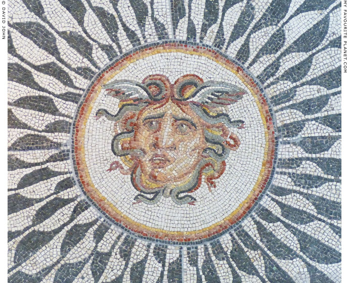 Mosaic head of Medusa, Palazzo Massimo alle Terme, Rome at My Favourite Planet