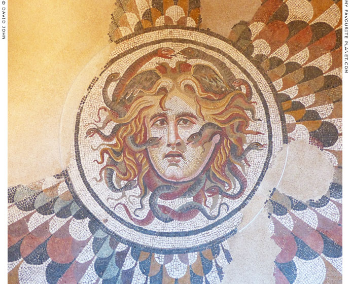 Mosaic head of Medusa, Baths of Diocletian, Rome at My Favourite Planet