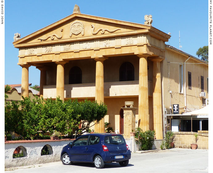 The facade of the Athena restaurant and bar, Marinella-Selinunte, Sicily at My Favourite Planet