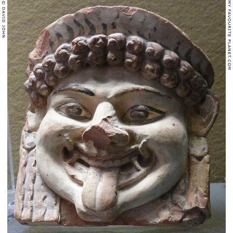 Terracotta Gorgoneion antefix from Syracuse, Sicily at My Favourite Planet