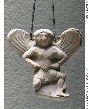 Flying Gorgon pendant from Agrigento, Sicily at My Favourite Planet