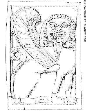 Gorgon on an ivory plaque from Sparta at My Favourite Planet