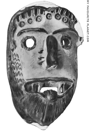 Gorgon mask from the Sanctuary of Artemis Orthia, Sparta at My Favourite Planet