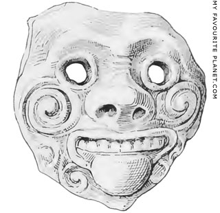 Gorgon mask from Sparta at My Favourite Planet