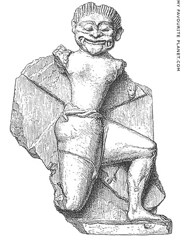 Fragment of a terracotta figure of a Gorgon from Gela, Sicily at My Favourite Planet
