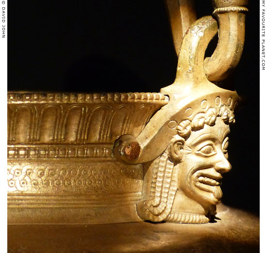 A bronze handle attachment of a situla in the form of a Gorgoneion at My Favourite Planet