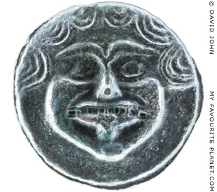 The Gorgon head on a bronze coin from Olbia at My Favourite Planet