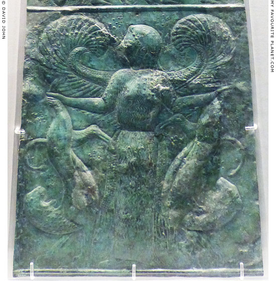 The Mistress of Animals depicted on a bronze sheet from Olympia, Greece at My Favourite Planet