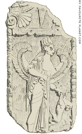 Drawing of the Dorylaeum stele from Gustave Mendel's catalogue at My Favourite Planet