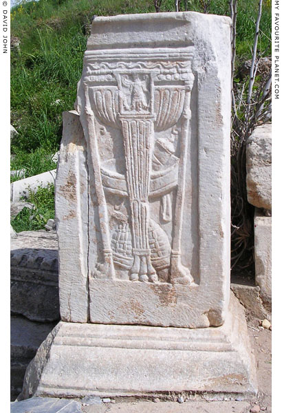 A relief showing the Delphic tripod of Apollo, Ephesus at My Favourite Planet