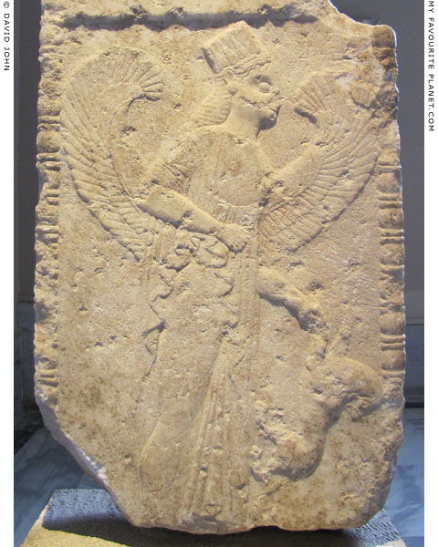 A relief of a goddess holding a lion from Dorylaeum at My Favourite Planet
