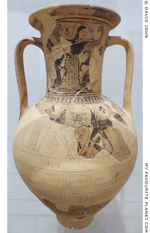 The Cycladic amphora from Rheneia with the Mistress of Animals at My Favourite Planet