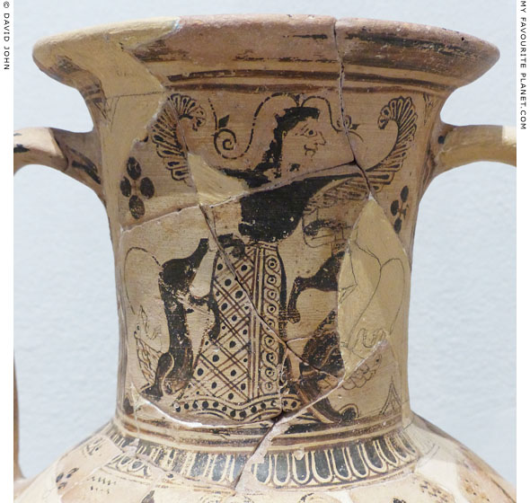 The Mistress of Animals depicted on a Cycladic amphora from Rheneia at My Favourite Planet