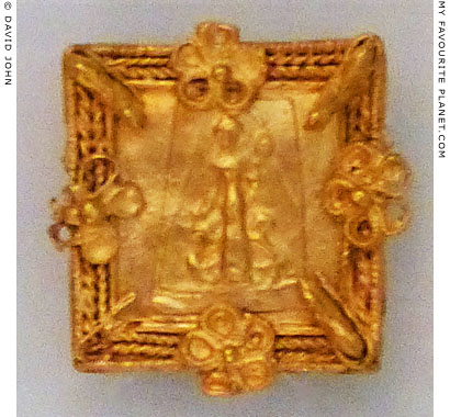 Gold plaque showing the Mistress of Animals, from Smyrna at My Favourite Planet