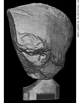 Fragment of the head of the Nike of Paionios statue at My Favourite Planet