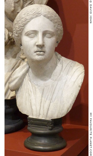 Bust of a daughter of Niobe in Dresden at My Favourite Planet