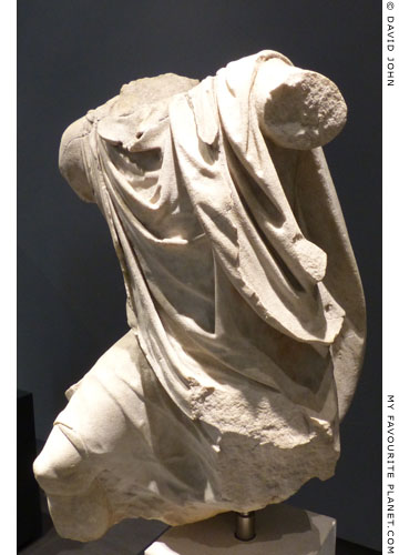 Torso of a marble statue of the Niobids' pedagogue at My Favourite Planet