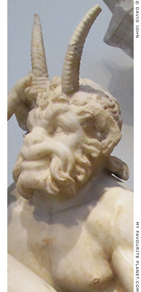 Close-up of Pan from the Delos statue group at My Favourite Planet