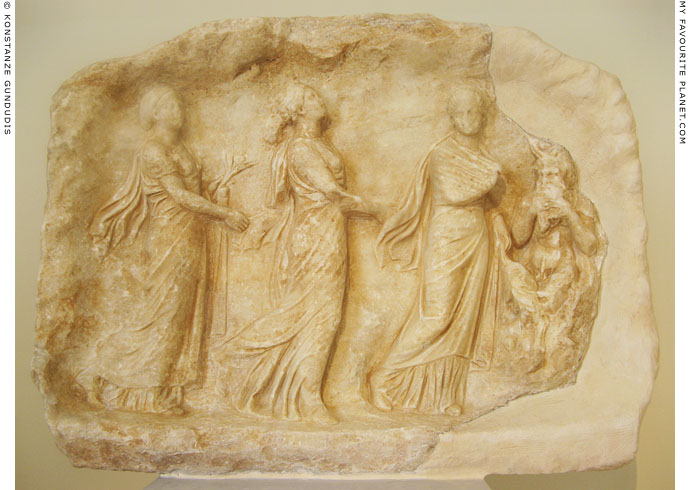 Marble Votive relief depicting Pan with the Seasons at My Favourite Planet
