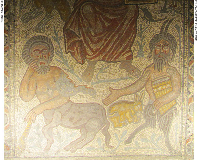 Mosaic from Jerusalem showing Pan and a centaur at My Favourite Planet