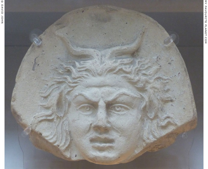 Head of Pan as an antefix from Taranto at My Favourite Planet
