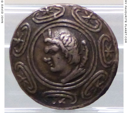 Head of Pan on a coin of Antigonus II Gonatas at My Favourite Planet