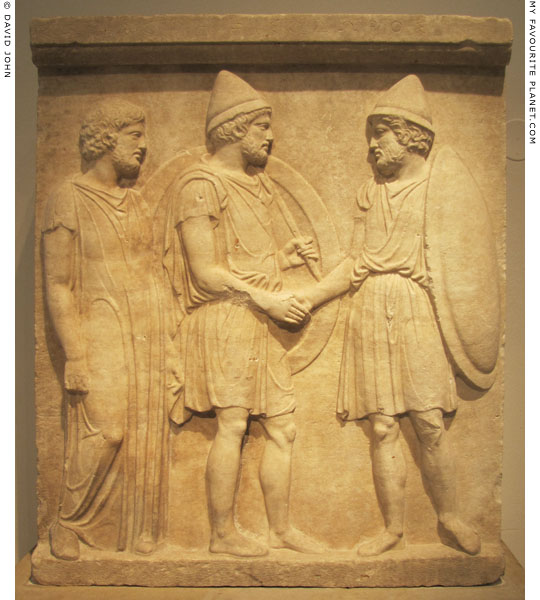 The funerary relief of Sosias and Kephisodoros at My Favourite Planet