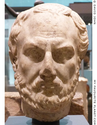 Marble head of Thucydides, Ashmolean Museum, Oxford at My Favourite Planet