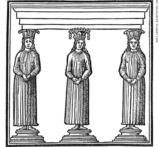 Caryatids in the 1511 edition of Vitruvius by Fra Giovanni Giocondo at My Favourite Planet